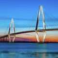 Vignette Blur Of The Cooper River Bridge by Dale Powell