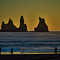 Vik Sea Stacks At Dusk - Iceland by Stuart Litoff