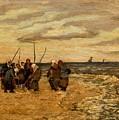 Viktor Ivanovich Zarubin Russian 1866  1928 Fisherwomen In Normandie by Artistic Panda