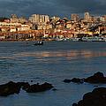 Vila Nova De Gaia In Portugal At Sunset by Artur Bogacki