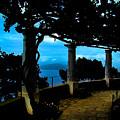 Villa San Michele At Anacapri, Italy - Painting by Al Bourassa
