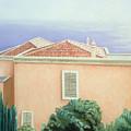 Villa With Cypress Trees by Gloria Cigolini-DePietro