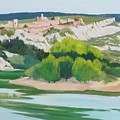 Village Above L'ardeche  by Roxanne Rodwell