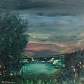 Village At Twilight by Martha Dolan