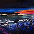 Village In A Winter Morninglight by Pol Ledent
