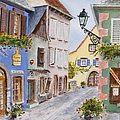 Village In Alsace by Mary Ellen Mueller Legault