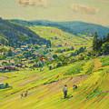 Village In The Foothills by Stanislav Lolek