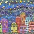 Village Lights by Pamela Schiermeyer