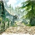 Village by Marjan Mencin