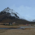 Village Of Arnastapi At The Base Of Mount Stapafell by DejaVu Designs