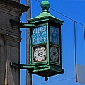 Village Of Elmore Clock-vertical by Michiale Schneider