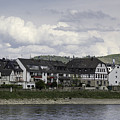 Village Of Spay Germany And Marksburg Castle by Teresa Mucha