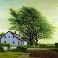 Village Road Orient  16x20 by Tony Scarmato