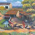 Village Stables by Art Nomad Sandra  Hansen