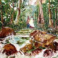Village Stream by Narayan Iyer