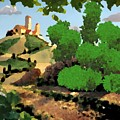 Village. Tower On The Hill by Dr Loifer Vladimir