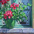 Village Welcome Giverny France by L Diane Johnson