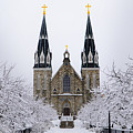 Villanova University After Snow Fall by Bill Cannon