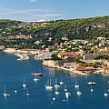 Villefranche-sur-mer And Cap De Nice On French Riviera by Elena Elisseeva