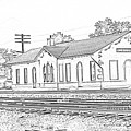 Villisca Ia Train Depot by Edward Peterson