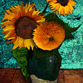 Vincent's Sunflowers 2 by Jose A Gonzalez Jr