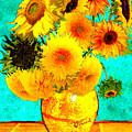 Vincent's Sunflowers 4 by Jose A Gonzalez Jr