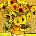 Vincent's Sunflowers by Jose A Gonzalez Jr