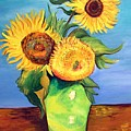 Vincent's Sunflowers by Patricia Piffath