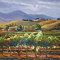 Vineyard In California by Heather Coen