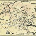 Vintage 1692 Map Of Salem Massachusetts - 1866 by CartographyAssociates