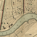 Vintage 1840s Map Of New Orleans by Keith Dotson