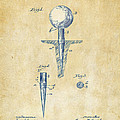 Vintage 1899 Golf Tee Patent Artwork by Nikki Marie Smith