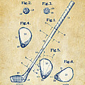 Vintage 1910 Golf Club Patent Artwork by Nikki Marie Smith