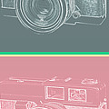 Vintage 35mm Film Camera Pop Art Totem by Edward Fielding