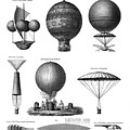 Vintage Aeronautics - Early Balloon Designs by War Is Hell Store