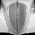 Vintage Auto Grille In Black And White by Patricia Strand