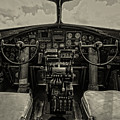 Vintage B-17 Cockpit by Mike Burgquist