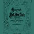 Vintage Bach Piano Book Cover by Sara Adams