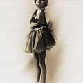 Vintage Ballet Dancer On Pointe by R Muirhead Art