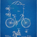 Vintage Bicycle Parasol Patent Artwork 1896 by Nikki Marie Smith