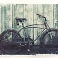 Vintage Bike Polaroid Transfer by Jane Linders