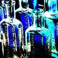 Vintage Bottles At A Flea Market Hard by Damyon Verbo