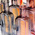 Vintage Bottles At A Flea Market Neg by Damyon Verbo