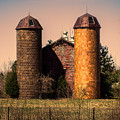 Vintage Brick Barn by Melissa Messick
