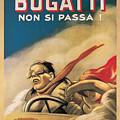 Vintage Bugatti Advert by Marlene Watson
