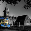 Vintage Bus At Taunton School by Rob Hawkins