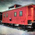 Vintage Caboose - Winter Train by Joann Vitali
