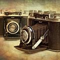 vintage cameras by Meirion Matthias