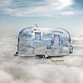Vintage Camping Trailer In The Clouds by Jill Battaglia