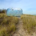 Vintage Camping Trailer Near The Sea by Jill Battaglia